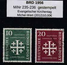 BRD 1956 MiNr.: 235-236 gestempelt Evangelischer Kirchentag