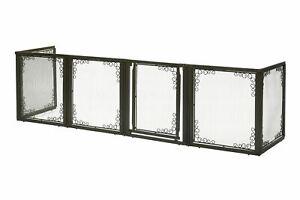 "Richell Convertible Elite Mesh Pet Gate 6 Panels Brown 130"" - 134"" x 31.7"" - 33."