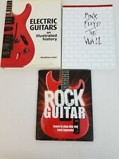 Lot of 3 Pink Floyd The Wall Rock Guitar Electric Guitars History Tablature Book