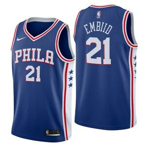 Philadelphia 76ers Men's Nike NBA Icon Basketball Jersey - Embiid 21 - New