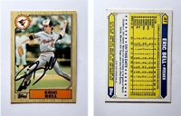 Eric Bell Signed 1987 Topps Traded #3T Card Baltimore Orioles Auto Autograph