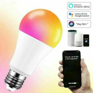 LED Smart Leuchtmittel WiFi Lampe dimmbar RGB Warm Birne E27 Alexa Google 15W