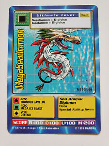 Digimon - NonHolo - 1st E MegaSeadramon BO-31 - Combine Ship W/Cart - SEE IMAGES