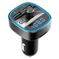 T25 Auto Kit Bluetooth Freisprech Fm Sender USB Schnellladegerät MP3 Spieler #R