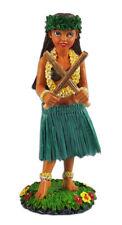 Dashboard Hula Girl Doll Playing Pu'ili Sticks Natural Skirt Hawaiian Hawaii NIB