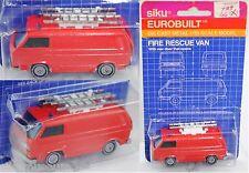 Siku Super 1343 VW Transporter 2,0 Liter (Typ T3, Feuerwehr-Gerätewagen ca. 1:60