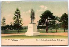 Elias Howe Statue Seaside Park Bridgeport CT UDB Howlands Vintage Postcard Y01