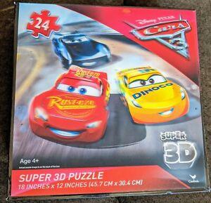 Lighting Mcqueen Disney Pixar Cars 3 24 Piece Super 3D Cardinal Puzzle