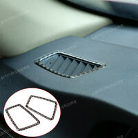Real Carbon Fiber Dashboard Side Air Outlet Trim For BMW 3 Serie E90/92/93 05-12