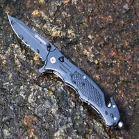 Pocket knives RESCUE BLACK TACTICAL Spring Assisted Opening Folding