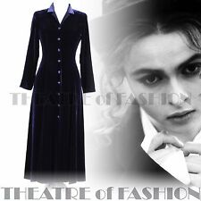 VINTAGE LAURA ASHLEY DRESS COAT VELVET SILK RIDING 18 16 VICTORIAN VAMP 30s 40s