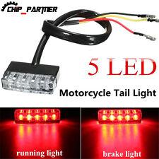 Universal  5 LED 12V Turn Signal Motorcycle Mini Blinkers Front Rear Peg Light