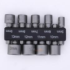 9pcs 6mm-14mm 1/4'' Hex Shank Socket Magnetic Nut Driver Set Adapter Drill Bit