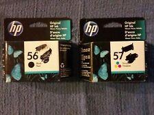 Combo Lot HP 56 Black C6656AN & 57 Tri-Color C6657AN JAN 2022 & DEC 2021