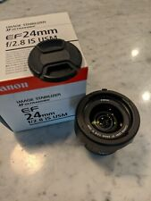 Canon EF 24mm f/2.8 IS USM Lens Mint
