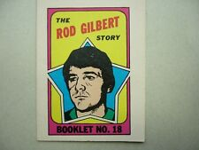 1971/72 O-PEE-CHEE NHL HOCKEY CARD INSERT BOOKLET #18 ROD GILBERT SHARP!! OPC