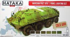 Hataka HTK-AS24 Warsaw Pact AFV Panel Lightening  6 colour paint set