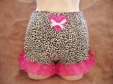 Yellow leopard print & bright pink short bloomers! 1950's/60's pin-up,rockabilly