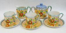 Vintage Hotta Yu Demitasse Lusterware Set Hand Painted Pattern #2748 Japan