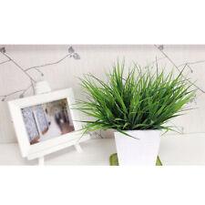 Artificiel Faux Plastique Vert Plante L'herbe Feuilles Maison Bureau Décoration
