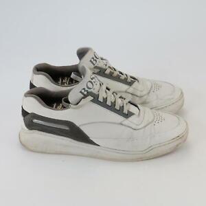 Hugo Boss Men's Low-top sneakers/trainers White Grey Trim UK 9.5  EUR 44