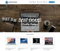 Laptop Shop Website For Sale - Earn £555.00 A SALE. Free Domain| Web Hosting