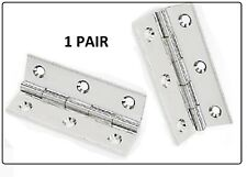 """1 Pair of 3"""" x 2"""" (75mm x 50mm) Butt Hinges - Nickle Plated Door Hinges"""