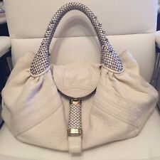 £1400 FENDI SPY BAG 100% AUTHENTIC WHITE GREY VESTIAIRE COLLECTIVE