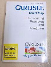 Carlisle Street Map Introducing Brampton and Longtown