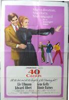 40 carats Movie Poster,Original, 1973,Folded,1 Sheet,Style B,Liv Ullmann.