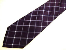 """Mens Necktie Tie Purple Checkered Silk 60"""""""