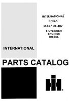 International 1256 1456 2826 2856 D-407 DT Diesel 8 Cyl Engine Parts Manual IH
