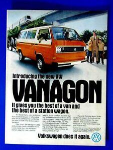 "1980 Volkswagen Vanagon Bus Introducing The New VW  Original Print Ad 8.5 x 11"""