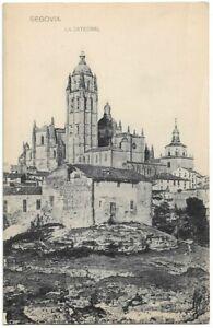 SUPERB OLD POSTCARD - THE CATHEDRAL - SEGOVIA - SPAIN C.1913