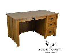 Mission Style Custom Quality Oak Desk