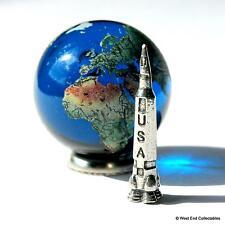 Giant 35mm Tierra Globo Canica De Vidrio & USA Cohete Espacial Set Astronomía