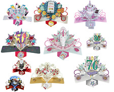 POP UP CARDS ~ BIRTHDAY, ANNIVERSARY, WEDDING ~ Beautiful Card for all Occasions