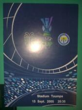 Programme PAOK Greece - Metallurg Donetsk Ukraine 2005 UEFA CUP