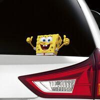 SpongeBob Peeking on Board Funny Joke Novelty Car Bumper Window Sticker Decal