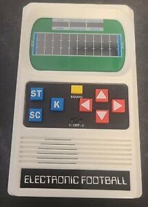Vintage ELECTRONIC FOOTBALL Game Handheld Battery Operated Mattel Works 100%