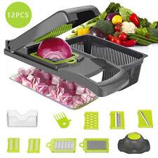12 in 1 Vegetable Chopper Slicer Onion Dicer Veggie Slicer with Colander Basket
