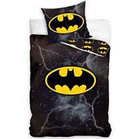 Batman Lightning Set Housse de Couette Simple 100% Coton Européen Taille Literie