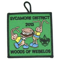 2013 Sycamore District Webelos Woods Blackhawk Area Council Patch