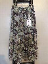 NEW CAbi Skirt Large Silk Sheer Teal Green Purple Full NWT