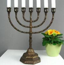 Menora Kerzenleuchter Antik Kerzenständer Tischleuchter Messing Davidleuchter