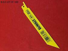 "Dewalt DW4811B Sawzall Reciprocating Saw Blades 6"" 18 TPI Lot of 100 Blades"