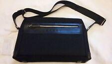 """CROSS Borsa per Laptop Nero Canvas & Leather Cross Spalla 15"""" x 10"""""""