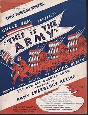 That Russian Winter 1942 This is the Army Stage Show Sheet Music