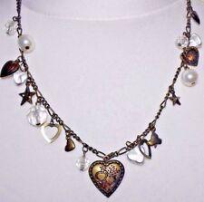 Topshop Heart Jewel Bead Charm Necklace