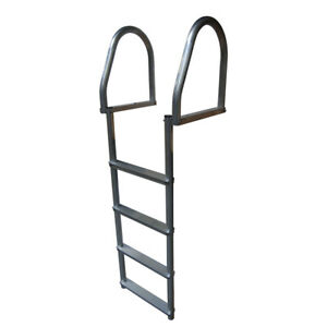 Dock Edge 2174-F Aluminum 4-Step Eco Flip-Up Ladder Weld Free